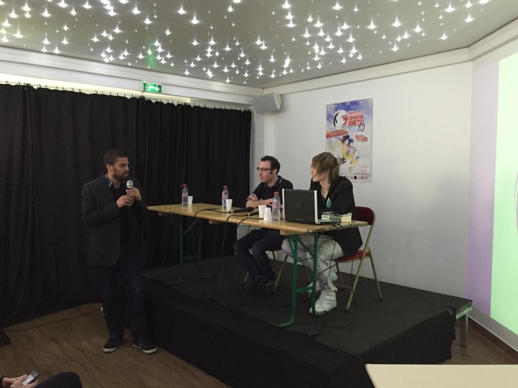 Guillaume Kapp et Louis-Baptiste Huchez en pleine conférence sur le cross media.
